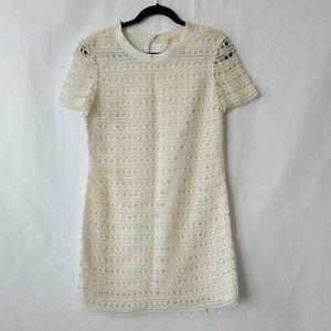 NEW Tory Burch Crochet Ivory Natural Cotton Dress